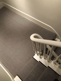 Carpet Stairs, Carpet Flooring, Black White Stripes, Black And White, Striped Carpets, Painted Stairs, Black Carpet, Magpie, Carpet Runner