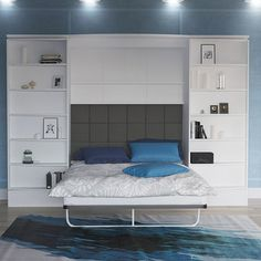 Features:  -Bed frame: Aluminum profile structure with Wooden Bed Slats.  -Bed size: Queen.  -Can be used for commercial applications.  -Hardware: Developed special mechanisms with new generation gas
