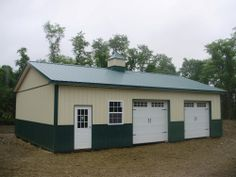 """Building Dimensions: 30' W x 40' L x 10' 4"""" H (ID# 355)  Visit: http://pioneerpolebuildings.com/portfolio/project/30-w-x-40-l-x-10-4-h-id-355-total-cost-15822  Like Us on Facebook! www.facebook.com/... Call: 888-448-2505 for any questions!"""