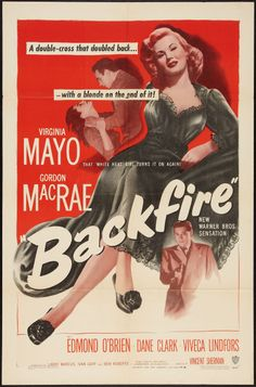 "Movie Posters:Film Noir, Backfire (Warner Brothers, 1950). One Sheet (27"" X 41""). FilmNoir.. ... Image #1"
