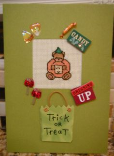 Handcrafted Scrapbook Style Cross Stitch 3D by CraftyCrossStitches, $4.99