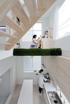 Ideas about Home Design for House H - Tokyo - Japan by Sou Fujimoto Architects. Houses Architecture, Japanese Architecture, Interior Architecture, Classical Architecture, Contemporary Architecture, Landscape Architecture, Arch Interior, Interior And Exterior, Interior Decorating