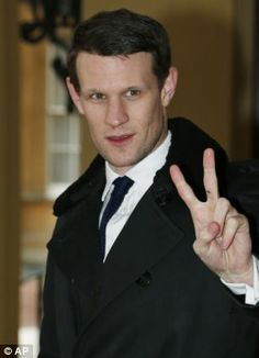 Matt Smith arrives for the 50th anniversary celebrations at Buckingham Palace today