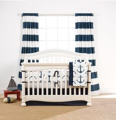 Mix and Match Navy Baby Bedding