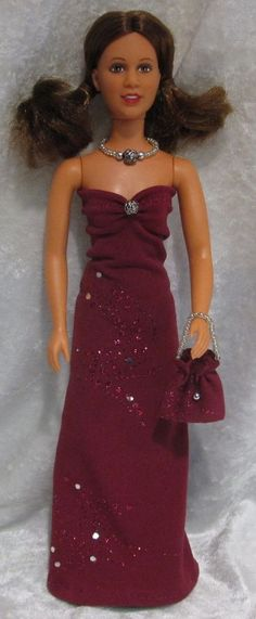 PRINCESS LEIA Star Wars Doll Clothes #22 Dress, Purse & Beaded Necklace Set #HandmadebyESCHdesigns