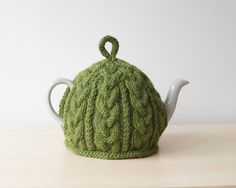 Knitted Tea Cosy Olive Green - BAILEY
