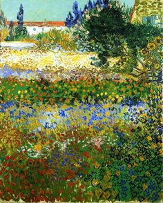iamthecrime:    Vincent van Gogh - Garden with Flowers, 1888 (via *Huismus)
