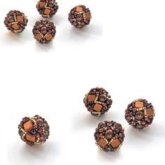 Beaded Bead Tutorial Truffle with CzechMates Tile Beads Mini | Etsy Good Tutorials, Beading Tutorials, Beaded Bead, Earring Tutorial, Flower Tutorial, Sell Items, Star Patterns, How To Make Earrings, Bead Weaving