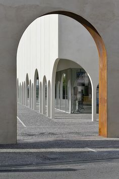 tracks architectes punctures facade with arches for cinema in france