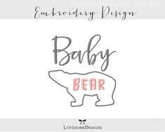 Baby Bear Appli Three Sizes Embroidery by LovesomeEmbroidery