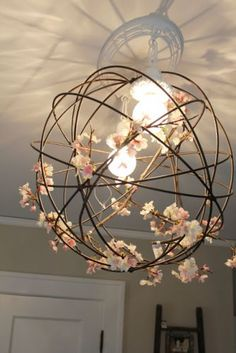 This garden orb makes a wonderful, trendy light fixture