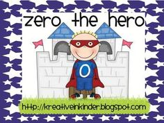 Zero the Hero is such an exciting way to teach children numbers! Counting by 10's has never been more FUN! This packet includes:Zero the Hero c...