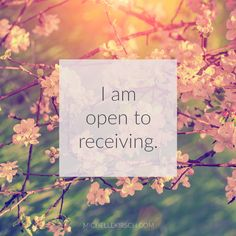 3 Minute Meditation + Affirmation: I am open to receiving. Allow yourself to be open to receiving all that the universe has to offer.