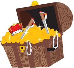 Festa Pirata - Kit Completo com molduras para convites, rótulos para guloseimas, lembrancinhas e imagens!