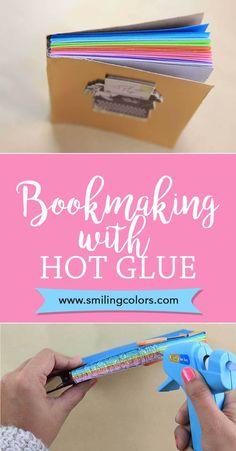 DIY Hot Glue Book Binding with Video Tutorial - Smitha Katti