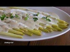 Białe szparagi z pysznym lekkim sosem jogurtowym - YouTube