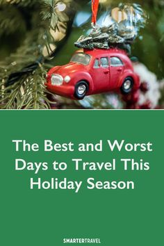 There's no place like home for the holidays—if you can get there. Here's when to fly, and when not to, to avoid the crowds this holiday season. Christmas Travel, Holiday Travel, Myrtle Beach Hotels, Major Holidays, Travel Dating, Worst Day, Travel News, Trip Advisor, Sky High