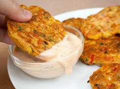 Vegetable Fritters (vegan, gluten free) - These vegan fritters make a great appetizer or meal. If you have vegetables to use up, these are a great way to use them up. Serve with Vegan Chipotle Ranch Dressing or regular Vegan Ranch Dressing for those who don't like spice.