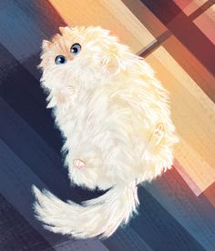 fanart for my favorite Instagram account sky_the_ragdoll I'm in love with this kitty's fluff