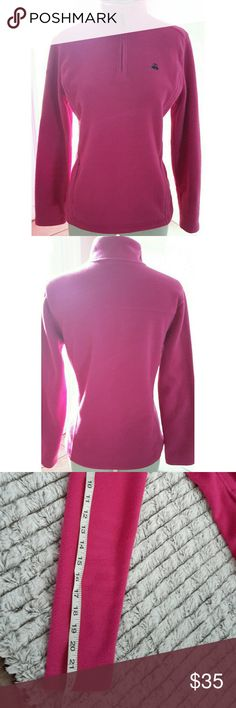 """346 Brooks Brothers Womens Pink Fleece Pullover 22"""" sleeve. 26"""" length. 34"""" bust. 100% Polyester. Size medium. Questions are welcomed. 346 Brooks Brothers Jackets & Coats"""