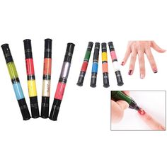 (Set) Migi Nail Art Pen/Brush 16 Colors & 8 Pens in Pastel & Classic Shades