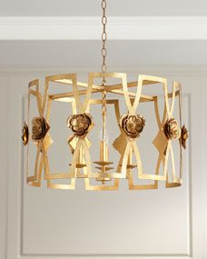 Camelia Pendant Lighting Sale, Pendant Lighting, Light Pendant, Gold Ceiling Light, Ceiling Lights, Laser Cut Steel, Kitchen Redo, Gold Leaf, Steel Frame