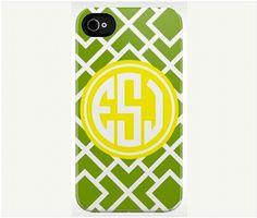 monogrammed iphone cover from calder clark designs blog