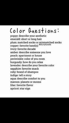 Plum Hair, Ldr, Describe Yourself, Periwinkle, Favorite Color, Poppies, Lavender, Burgundy, Peach