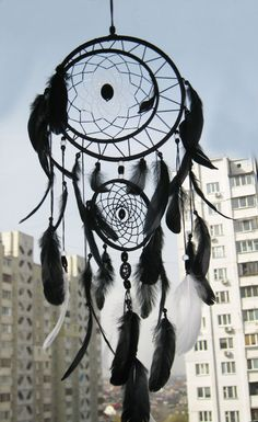 Large Black dreamcatcher Large Dream Catcher by MagicalSweetDreams