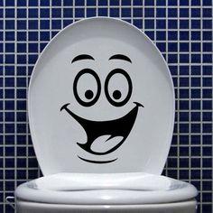 Funny DIY Toilet Bathroom Decal Seat Decor