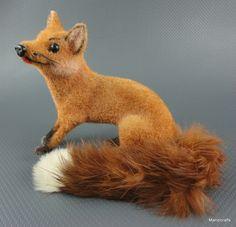 #Wagner West Germany #Fox Wool Flocked 1970s Kunstlerschutz Putz Figure Label Fur Tail New Old Stock Vintage