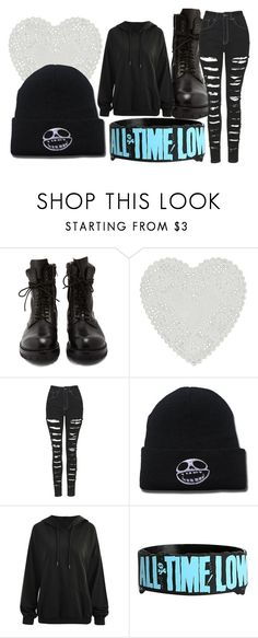 """Polyvore is my go-to when I am bored............"" by ria-c ❤ liked on Polyvore featuring Rick Owens, The Ragged Priest and Hot Topic"