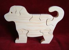 Puppy Puzzle Unfinished Pine by ClickityClack on Etsy