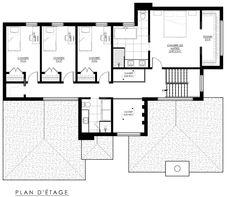 Plan de Maison Moderne Ë_118 | Leguë Architecture Plane, Architect Design, Architecture, House Plans, Floor Plans, House Design, Flooring, How To Plan, Future