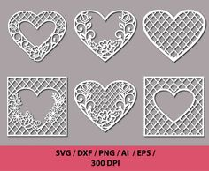 70 % off, Stencil Lacy Hearts With Carved Openwork Pattern Template For Interior Design Layouts Wedd Interior Design Layout, Design Layouts, Clipart, Free Crochet Bag, Creative Box, Heart Painting, Lace Heart, Art Template, Card Patterns