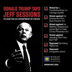 Jeff Sessions: intent on making the US one giant 19th century plantation.