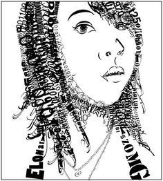 Project 2a - Typographic Portrait #1 -  - Type Faces - Typographic portraits