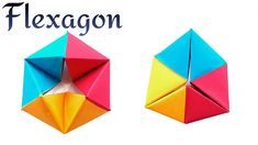 "Action Fun Toy Origami tutorial -  Paper ""Modular Rotating Tetrahedron /..."