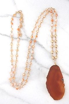 Throw Shade Necklace, Brown :: NEW ARRIVALS :: The Blue Door Boutique