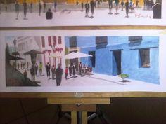 Andador, San Cristóbal de Las Casas Frame, Painting, Home Decor, Art, Baby Walkers, Saint Christopher, Water Colors, Houses, Picture Frame