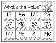 Place Value  https://www.teacherspayteachers.com/Product/Place-Value-Practice-Activities-Games-and-Printables-2226211