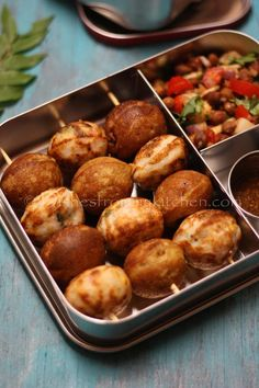 Paniyaram/ Gunta ponganalu (Indian Ebelskiver) is both kids and adult favorite. There are different method of doing this. Healthy School Snacks, Healthy Toddler Snacks, Toddler Lunches, Toddler Food, Lunch Box Recipes, Easy Dinner Recipes, Easy Meals, Easy Recipes, Healthy Recipes