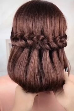 Hair Up Styles, Short Hair Styles Easy, Medium Hair Styles, Short Hair Hacks, Easy Hairstyles For Long Hair, Braids For Long Hair, Braided Hairstyles Tutorials, Headband Hairstyles, Girl Hairstyles