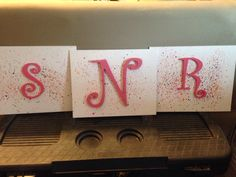 Crayon art wooded letters for little girl room!!!