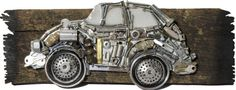 Retro VW Bug by CreativelyYoursKY on Etsy