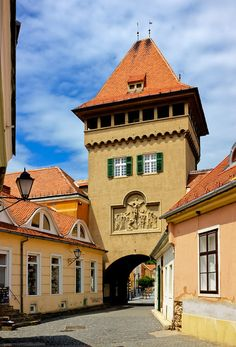 De gate way in Koszeg, Vas_ West Hungary Eastern Countries, European Countries, Eastern Europe, Countries Of The World, Travel Around The World, Around The Worlds, Gate Way, Hungary Travel, Castle House