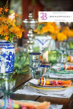 Cristalería y vajillas de prestigio por www.bougainvilleabodas.com.mx Bodas San Miguel