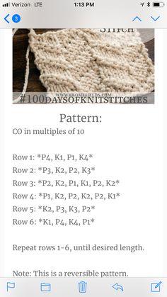 Alternating Chevron Knit Stitch