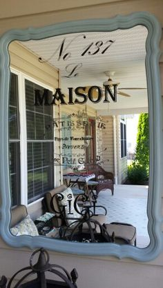 my front porch lots of pinspiration i used chalk paint on a thrift find