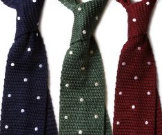 Need to buy $25 #tie #suit #mens  F R E E / M A N - Journal - The Knottery: Polka Dot Knit Ties